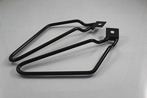 Motorcycle 1set Saddlebag Brackets Support Black for Harley
